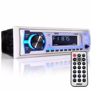 Pyle Marine Audio PLMRB29 Bluetooth In-Dash Stereo Radio Headunit Power: 300 Watt (75W x 4)