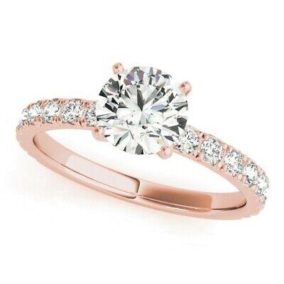 Genuine 1.25 Ct Round Cut Diamond Engagement Ring I,VS2 GIA White 14K Gold 4