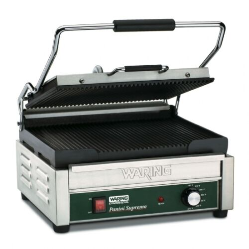Waring WPG250 Commercial Large Italian Style Panini Grill 120V 1 Year Warranty