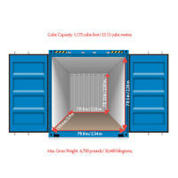 Shipping Containers 20 and 40 Feet for Storage