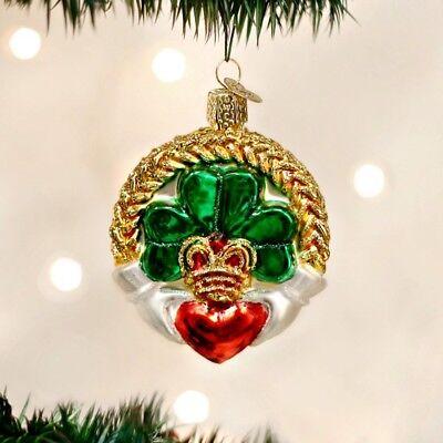 Irish Claddagh Old World Christmas Ornament NEW! Celtic
