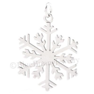 CHRISTMAS SNOWFLAKE Charm Pendant winter snow 925 Sterling -