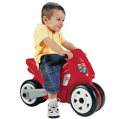 Step2 Motorcycle Red Kids Ride-On Bike Outdoor Play Toy - Red