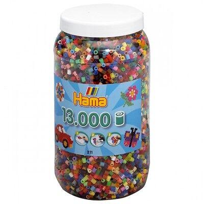 Hama 211-68 Bügelperlen Midi, Ca. 13.000 Stück In Dose, 52, Mehrfarbig