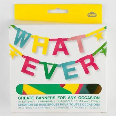 WHATEVER MAKE YOUR OWN BANNER SIGN KIT CREATE FOR ALL OCCASIONS REUSABLE NEW FUN