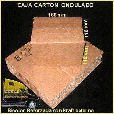 PACK CAJAS DE CARTON MARRON 16X11X11 cm ENVIOS POSTALES CARTON KRAFT ENVIOS
