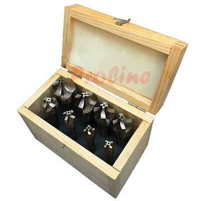 8 Pc Hss 4 Flute 116-38 Corner Rounding End Mill Set Shank Milling Cutter