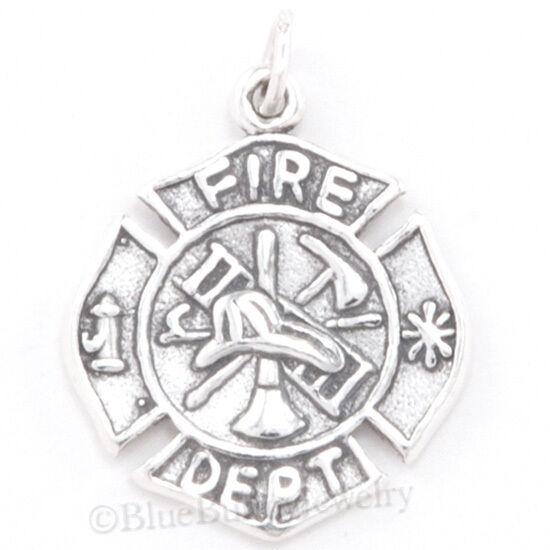 Fire Department Maltese Cross Necklace: FIRE DEPARTMENT Charm Maltese Cross Firefighter Man