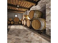 BRICK EFFECT, PORCELAIN TILE BRISTOL RED - Frost Proof and Anti-Slip Rating!