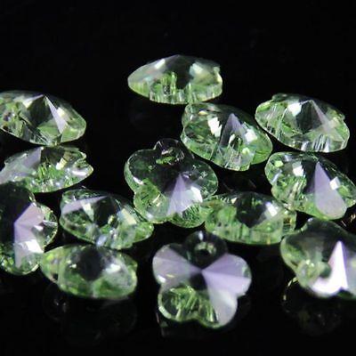 12pcs Swarovski 8mm plum blossom shape Crystal beads D fruit green