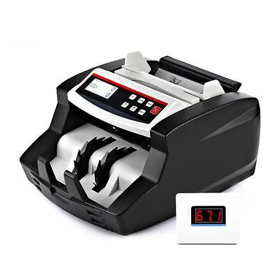 Auto Bill Counter Digital Cash Money Banknote Counting W Counterfeit Detection