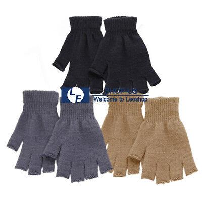 New Unisex Winter Warm Keep Magic Fingerless Half Finger Knitted Gloves (Knitting Fingerless Mittens)