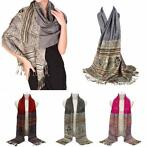 Women Ladies Bohemian Style Cotton Scarf Tassel Fringed ...