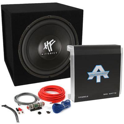 Hifonics HFX12D4 12 inch 800 Watt Car Sub Subwoofer + Amp Complete Bass Package