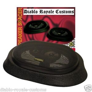 UNIVERSAL-VEHICLE-6-x-9-REAR-DECK-OR-DOOR-AUTO-BOAT-SPEAKER-PODS-SPACERS