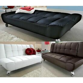 Modern design, Grey Sofa, Sofa Bed, 3 seater, Futon, Day Bed. leather. black, leather sofa bed,