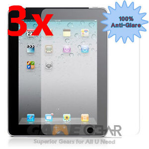 3x Anti-Glare Matte Screen Protector Cover Guard Film for Apple iPad 4 4th 3 2