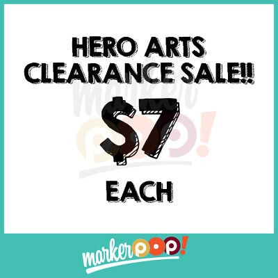 CLEARANCE SALE Hero Arts Clear Stamps (Clear Sale)