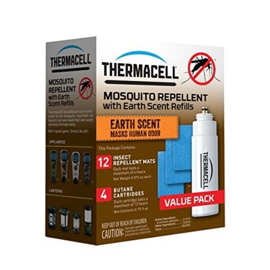 Thermacell E-4 Mosquito Repeller Refill with Earth Scent, (48 Hour Pack)