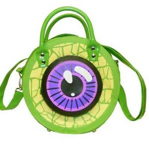 Kreepsville666,NEW Handbag,Purse,Green Eyeball,Detachable Shoulder Strap