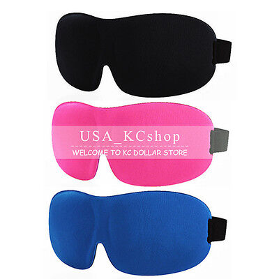 New Unisex 3D Soft Eye Travel Sleep Aid Mask Cover Rest Relax Sleeping Blindfold