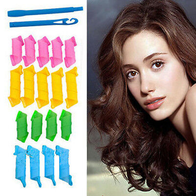 New 18PCS/Set Magic Hair Curlers Styling Perm Ringlets Rollers DIY  Curl Styles