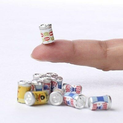 Assorted Beer Cans set/6 Dollhouse Miniature Faerie ...