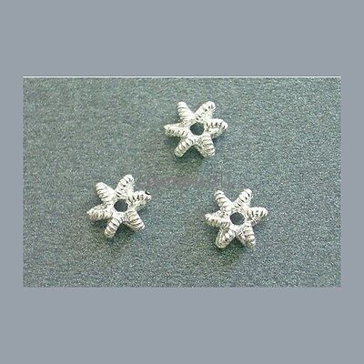 - 925 Sterling Silver Star Spacer 7mm 5pc #51009