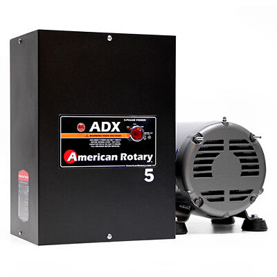 American Rotary Adx05 5hp 240v Wall Mount Adx Series Rotary Phase Converter