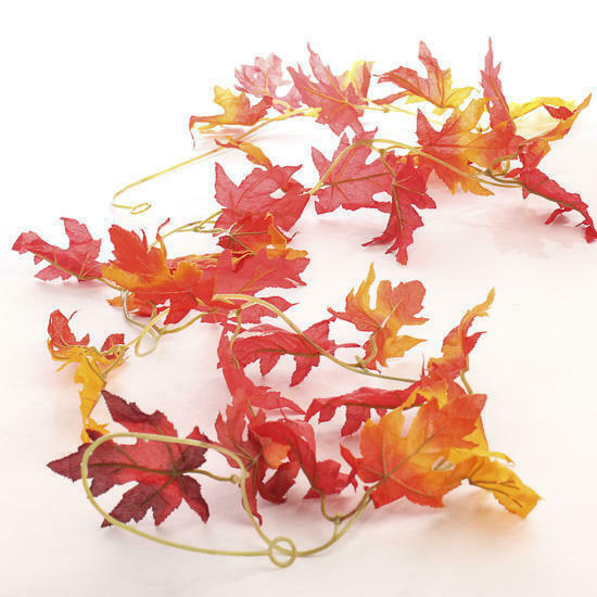 18 Feet of Richly Colored Artificial Autumn Maple Leaf Garland
