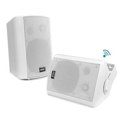 Pyle PDWR61BTWT Wall Mount Waterproof & Bluetooth Speakers, 6.5 Indoor/Outdoor