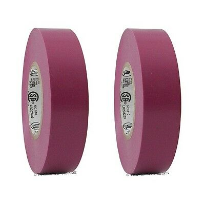 2 Roll Purple Vinyl Pvc Electrical Tape 34 X 66 Flame Retardant Free Shipping