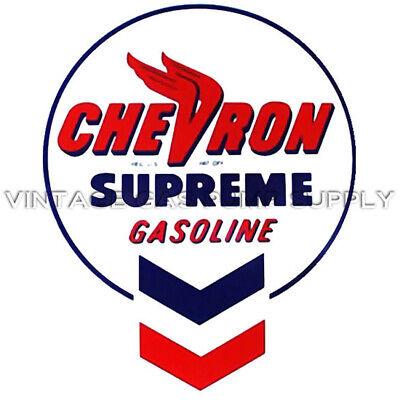 "12/"" ROUND GULF SUPREME MOTOR OIL GASOLINE GAS PUMP OIL TANK DECAL GULF-11"