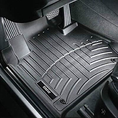 Genuine BMW F15 X5 All Weather Floor Liners Molded Mats Black Front and Rear