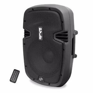 PYLE PPHP837UB 8'' 600 Watt Bluetooth Powered Speaker System W/ USB AUX/MP3 Input with Remote