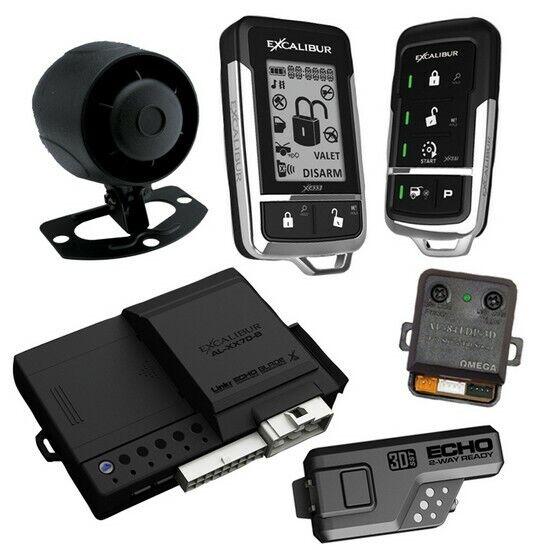 Excalibur AL18703DB Deluxe LCD 2-way Remote Start & Alarm System 1500