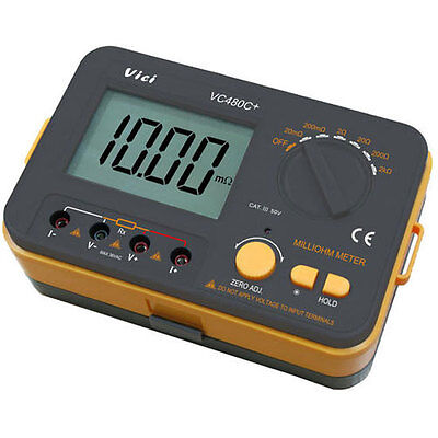 New    Vici Vc480c  3 1 2 Digital Milli Meter With 4 Wire Test Batteries