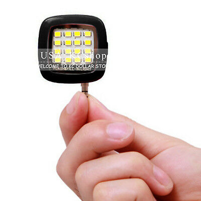 New Mini Portable Rechargeable Selfie Flash 16 LED Camera Light for All Phones