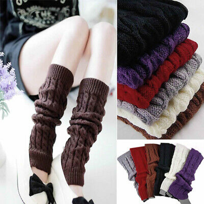 Winter Knee High Leg Warmers Long Crochet Knit Boot Cuffs Socks Topper Welcome Clothing, Shoes & Accessories