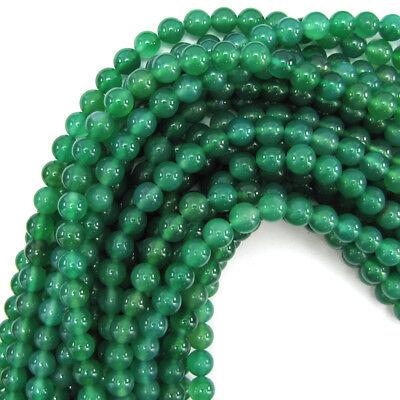 "Green Onyx Round Beads Gemstone 15"" Strand 3mm 4mm 6mm 8mm 10mm 12mm"