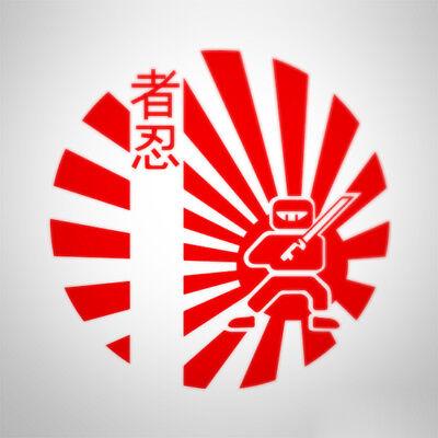 JDM Japan Samurai Sun Ninja Car Van Window Bumper Decal Sticker