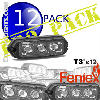 12 Pack Feniex T3 Led Surface Mount Lights Covert Propack