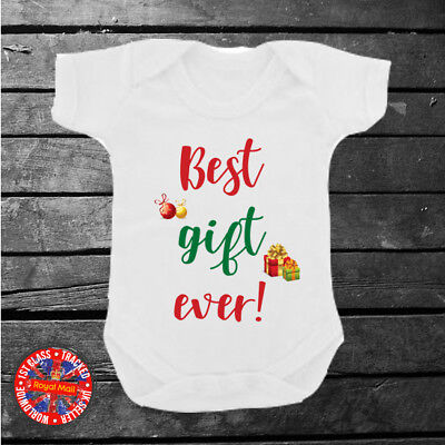 Best Gift Ever Babygrow, Christmas, Baby Shower, Boys, Girls, Present,