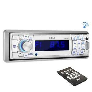 MARINE RADIO - PYLE PLMR17BTS Bluetooth Stereo Headunit w/USB/ SD/ MP3 Inputs, Hands-Free Call/Answer and Remote