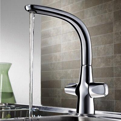 Klassische Wasserfall (Klassische Zweihebel Waschtischarmatur Wasserfall Wasserhahn Bad+Küche 59268FW4)