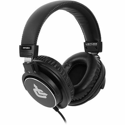 New! Limitless Creations HP3BK Audiophile On-Ear Pro Studio Monitor Headphones