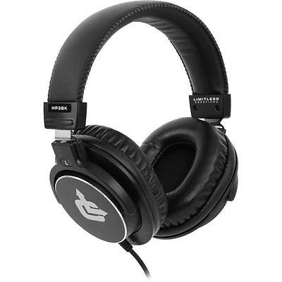 New! Limitless Creations HP3BK Audiophile On-Ear Pro Studio Monitor Headphones
