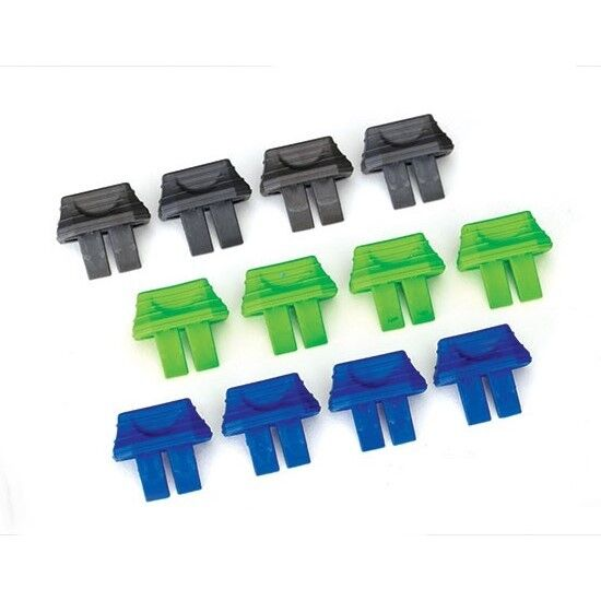 Traxxas Battery Charge Level Indicators Green (4) Blue (4) Grey (4) - 2943