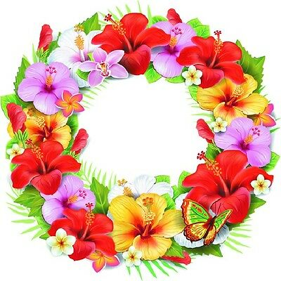 30 Custom Flower Wreath Personalized Address Labels