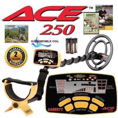 Garrett Ace 250 Metal Detector w/ WaterProof Coil~ Free Shipping